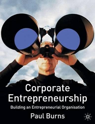 9781403908094: Corporate Entrepreneurship: Building an Entrepreneurial Organisation