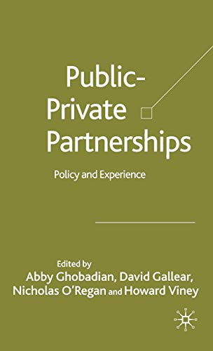 Private-Public Partnerships: Policy and Experience