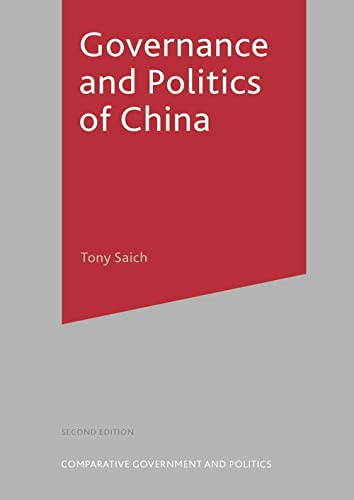 9781403921857: Governance and Politics of China, Second Edition (Comparative Government and Politics)