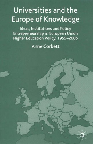 9781403932457: Universities and the Europe of Knowledge: Ideas, Institutions and Policy Entrepreneurship in European Union Higher Education Policy, 1955-2005: Ideas, ... in European Union Higher Education 1955-2005