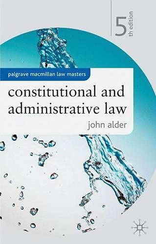 9781403933928: Constitutional and Administrative Law (Palgrave Law Masters)
