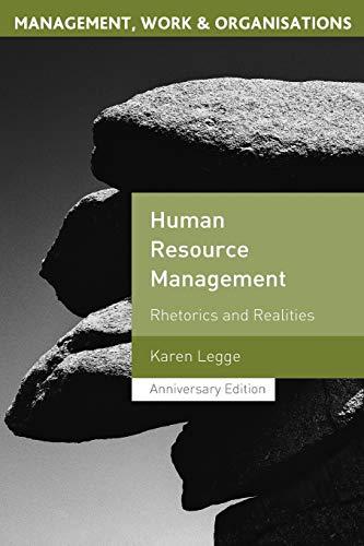 9781403936004: Human Resource Management: Rhetorics And Realities