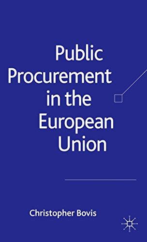 9781403936073: Public Procurement in the European Union