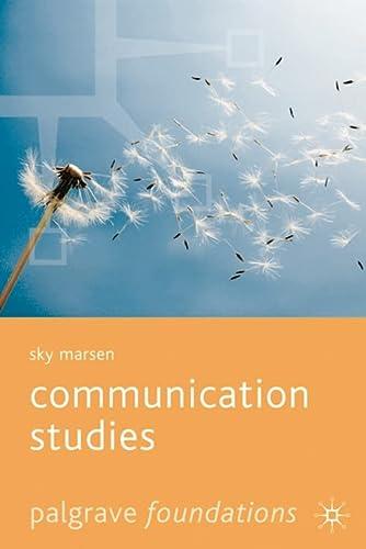 9781403939982: Communication Studies (Palgrave Foundations Series)
