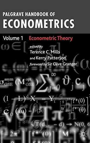 9781403941558: Palgrave Handbook of Econometrics Volume 1: Econometric Theory: Econometric Theory v. 1