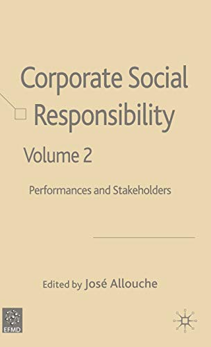 9781403944139: Corporate Social Responsibility Volume 2: Performances and Stakeholders: Economic-financial Responsibility and Stakeholders v. 2