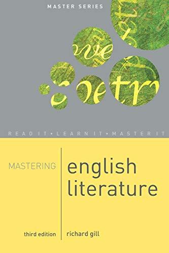 Mastering English Literature (Palgrave Master Series): Richard Gill