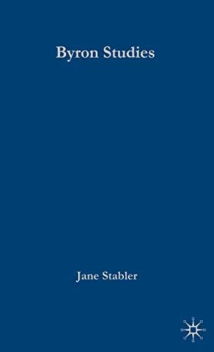 9781403945921: Palgrave Advances in Byron Studies