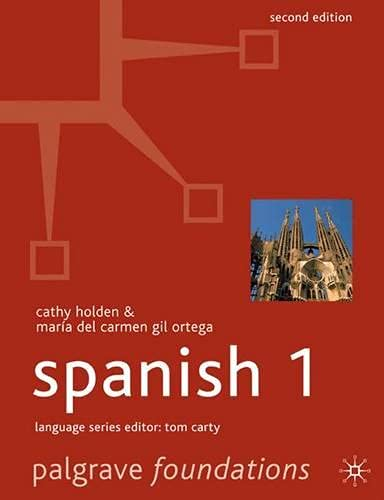 9781403946683: Foundations Spanish 1 (Palgrave Foundation Series Languages) (English and Spanish Edition)