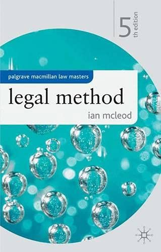 9781403948700: Legal Method (Palgrave Law Masters)