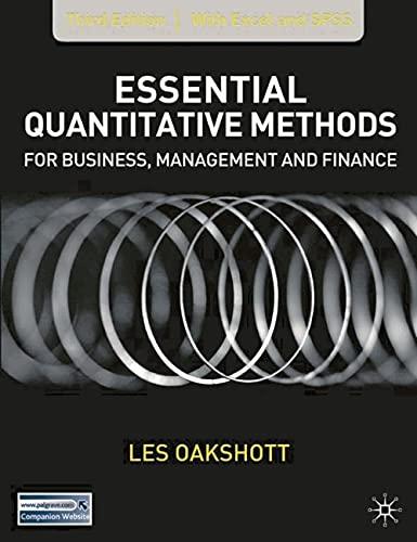 9781403949912: Essential Quantitative Methods: For Business, Management And Finance