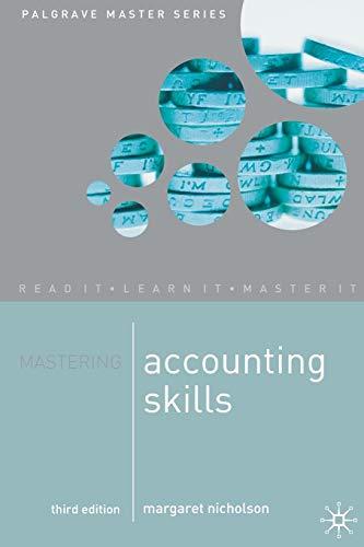 9781403992703: Mastering Accounting Skills (Palgrave Master Series)