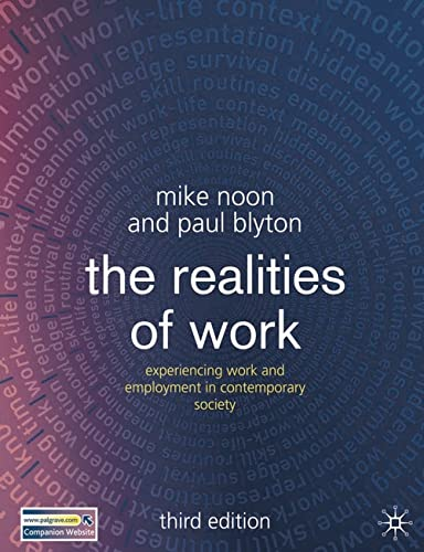 9781403994936: The Realities of Work, Third Edition