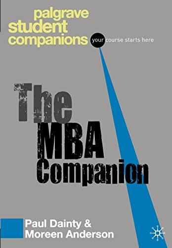 9781403998859: MBA Companion (Palgrave Student Companions)