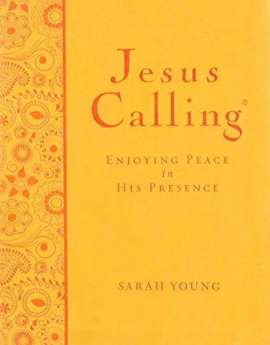 9781404174726: Jesus Calling Large Print Deluxe Orange Leathersoft
