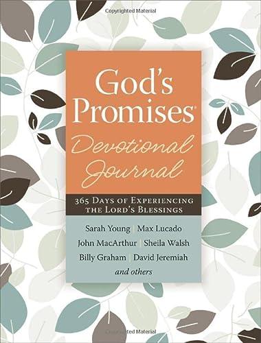 God's Promises Devotional Journal: Thomas Nelson Publishers