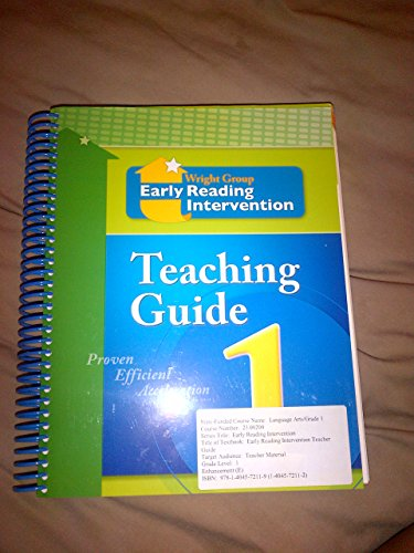 9781404572119: Wright Group Early Reading Intervention Teaching Guide: Grade 1
