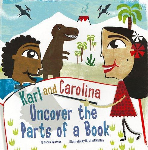 9781404861077: Karl and Carolina Uncover the Parts of a Book (In the Library)
