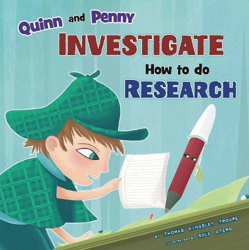 9781404862906: Quinn and Penny Investigate How to Research (In the Library)