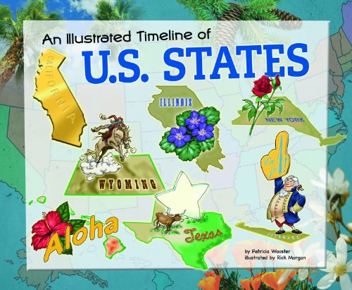 9781404866638: An Illustrated Timeline of U.S. States (Visual Timelines in History (Library))