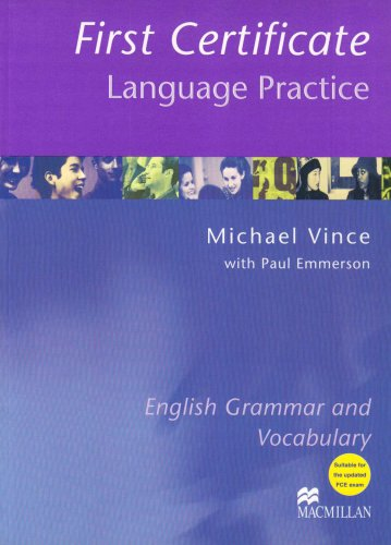9781405007658: First Certificate Language Practice: Without Key