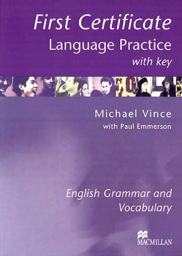 9781405007665: First Certificate Language Practice: With Key
