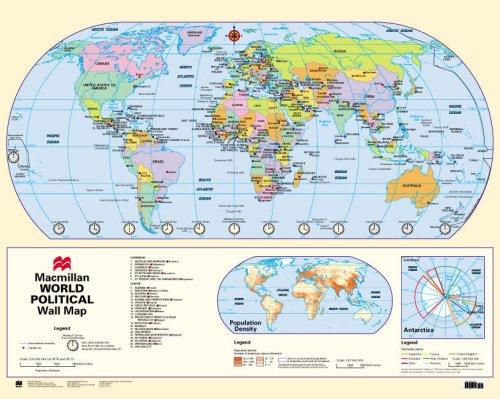 Macmillan World Wall Map: Physical and Political