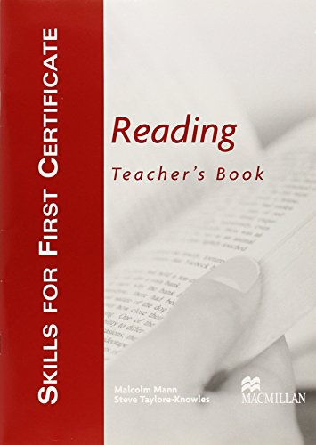 9781405017466: Skills for First Certificate Reading Teacher Book: Reading - Teacher's Book