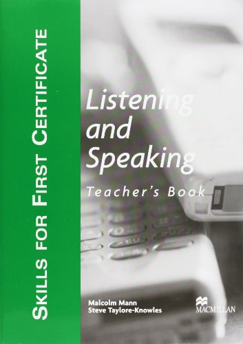 9781405017503: Skills for First Certificate: Listening and Speaking - Teacher's Book