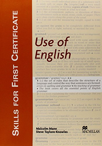9781405017510: SKILLS FOR FC: Use of English Sb: Student's Book (Skills for First Certificate)