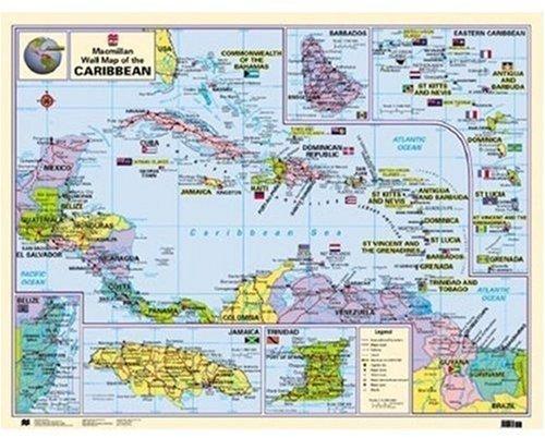 Macmillan Wall Map of the Caribbean (Macmillan Caribbean Wall Maps): MacMillan Publishers
