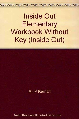 9781405028912: Inside out Elementary Workbook Without Key