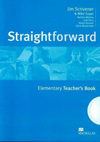 9781405075459: Straightforward Elementary: Teacher's Book and Resource Pack