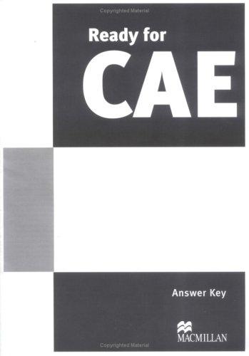 9781405084369: Ready for CAE Answer Key