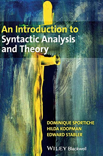 9781405100168: An Introduction to Syntactic Analysis and Theory