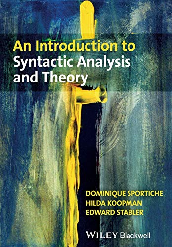 9781405100175: An Introduction to Syntactic Analysis and Theory