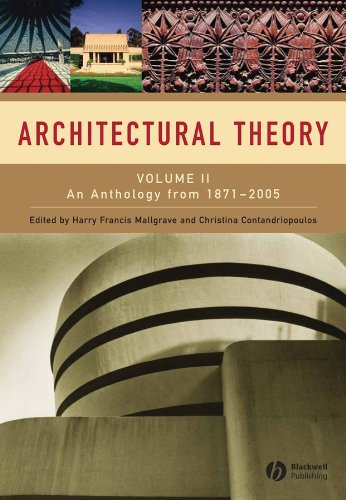 9781405102599: Architectural Theory: Volume II - An Anthology from 1871 to 2005