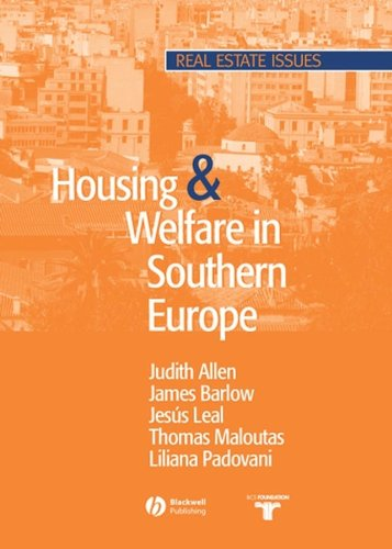 9781405103077: Housing and Welfare in Southern Europe (Real Estate Issues)