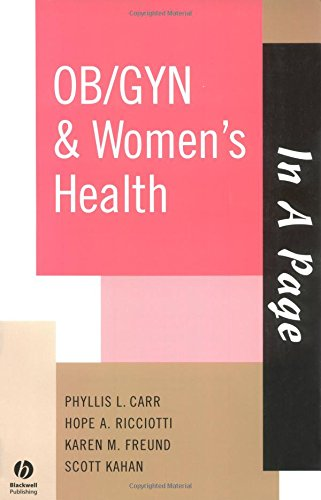 9781405103800: In A Page OB/GYN & Women's Health (In a Page Series)