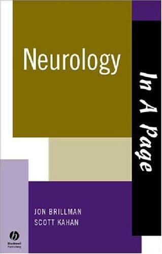 In A Page Neurology (In a Page Series): Kahan, Scott, Brillman, Jon