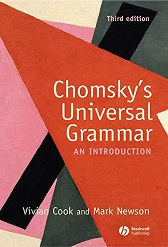 9781405111867: Chomsky's Universal Grammar: An Introduction