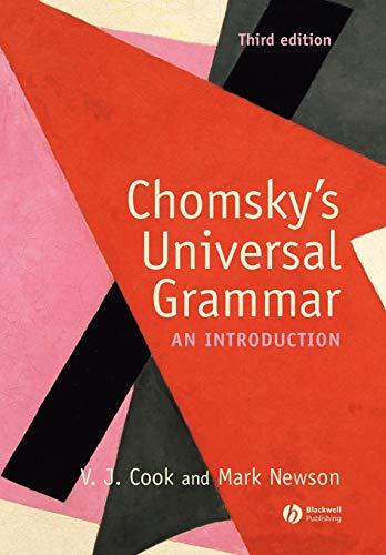 9781405111874: Chomsky's Universal Grammar: An Introduction
