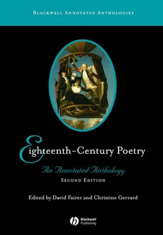 9781405113199: Eighteenth-Century Poetry: An Annotated Anthology (Blackwell Annotated Anthologies)