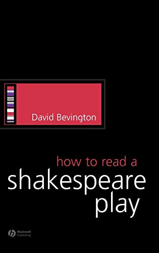 9781405113953: How to Read a Shakespeare Play (How to Study Literature)
