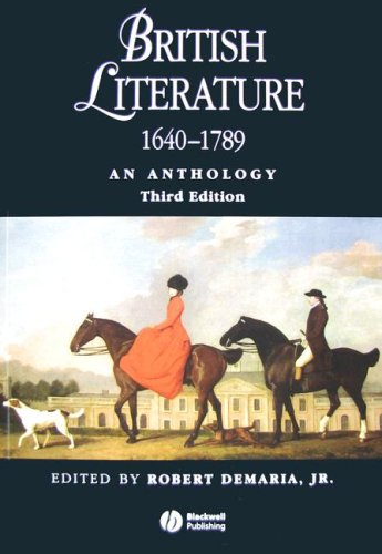 9781405119283: British Literature 1640-1789: An Anthology (Blackwell Anthologies)