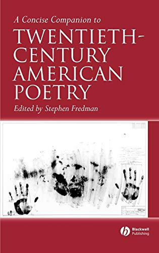 9781405120029: A Concise Companion to Twentieth-Century American Poetry (Concise Companions to Literature and Culture)