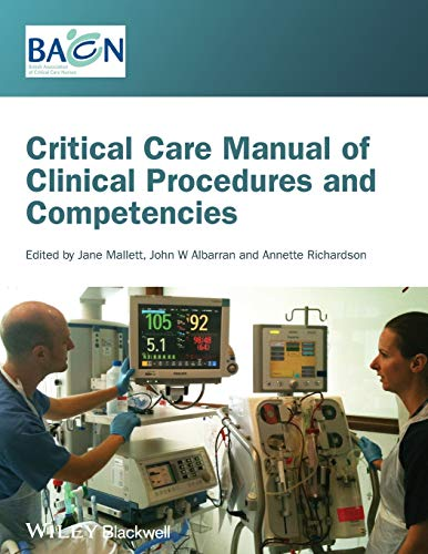 9781405122528: Critical Care Manual of Clinical Procedures and Competencies