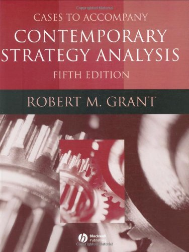 9781405124089: Contemporary Strategy Analysis, Cases
