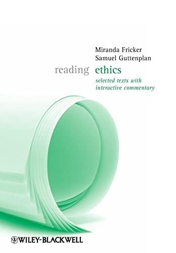 9781405124744: Reading Ethics