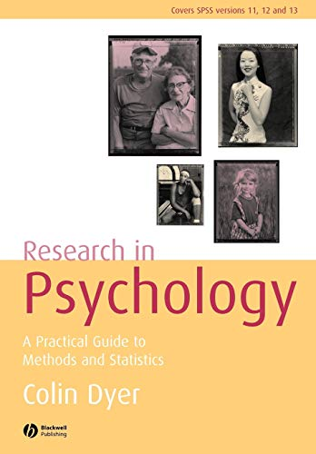 9781405125260: Research in Psychology: A Practical Guide to Methods and Statistics